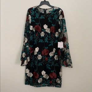 NWT Laundry floral lace dress